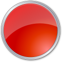 Circle, Red Icon