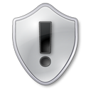 Grey, Shield, Warning Icon