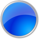 Ball, Blue, Circle Icon