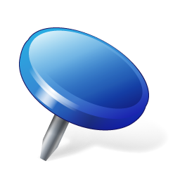 Blue, Location, Pin Icon