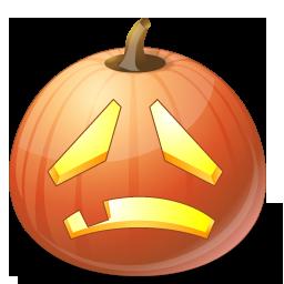 Halloween, Jack, Lantern, Pumpkin, Sad Icon