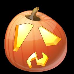 Halloween, Jack, Lantern, Pumpkin, Shock Icon