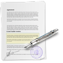 Contract, Document, Signature Icon