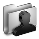 Folder, Group, Metal Icon