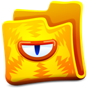 Creature, Folder, Yellow Icon