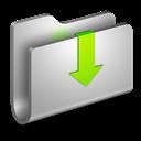 Downloads, Folder, Metal Icon