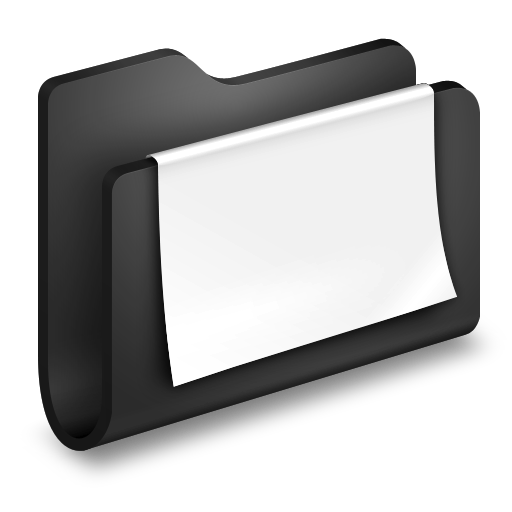 Black, Documents, Folder Icon