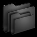 Black, Folders Icon