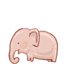 Bin, Elephant, Empty, Recycle Icon
