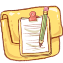 Folder, Notepad, Version Icon