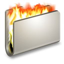 Burn, Folder, Metal Icon
