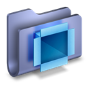 Blue, Dropbox, Folder Icon