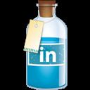 Bottle, Linkedin Icon