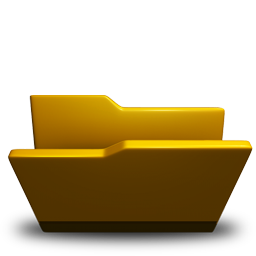 Folder, Opened, Yellow Icon