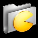 Folder, Games, Metal Icon
