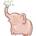Bin, Elephant, Full, Recycle Icon