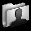 Folder, Metal, Users Icon