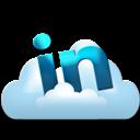 Cloud, Linkedin Icon