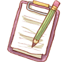 Notepad, Pencil Icon