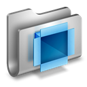 Dropbox, Folder, Metal Icon
