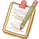 Notepad, Pencil, Yellow Icon