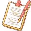 Notepad, Pen, Yellow Icon
