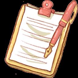 Notepad, Pen, Yellow Icon