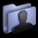 Blue, Folder, User Icon