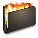Black, Burn, Folder Icon