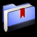 Blue, Bookmarks, Folder Icon