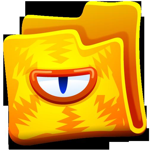 Creature, Folder, Yellow Icon