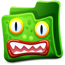 Creature, Folder, Green Icon