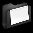 Black, Documents, Folder Icon