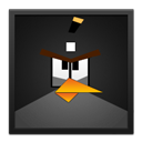 Angry, Bird, Black, Frame Icon