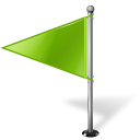 Chartreuse, Flag, Left, Map, Marker Icon
