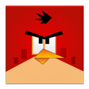 Angry, Bird, Frameless, Red Icon