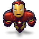 Flying, Iron, Man Icon