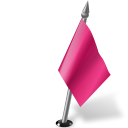 Flag, Map, Marker, Pink, Right Icon