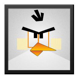 Angry, Bird, Black, Frame, White Icon