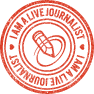 Journal, Live, Stamp Icon