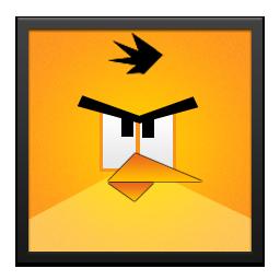 Angry, Bird, Black, Frame, Yellow Icon