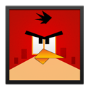 Angry, Bird, Black, Frame, Red Icon