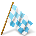 Azure, Chequered, Flag, Map, Marker, Right Icon