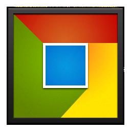 Black, Chrome, Frame Icon