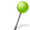 Ball, Chartreuse, Map, Marker, Right Icon
