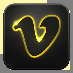 Glow, Neon, Vimeo Icon