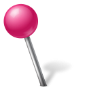 Ball, Left, Map, Marker, Pink Icon