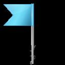 Azure, Flag, Left, Map, Marker Icon