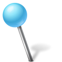 Azure, Ball, Left, Map, Marker Icon