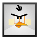 Angry, Bird, Black, Frame, White Icon